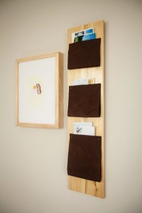 DIY Leather Mail Organiser