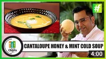 Cantaloupe Honey & Mint Cold Soup